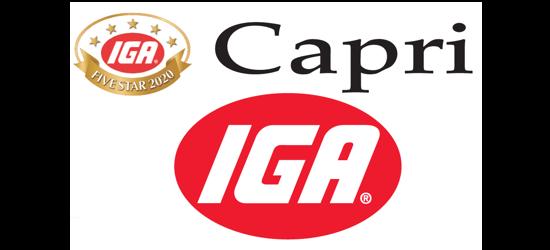 A theme logo of Capri IGA